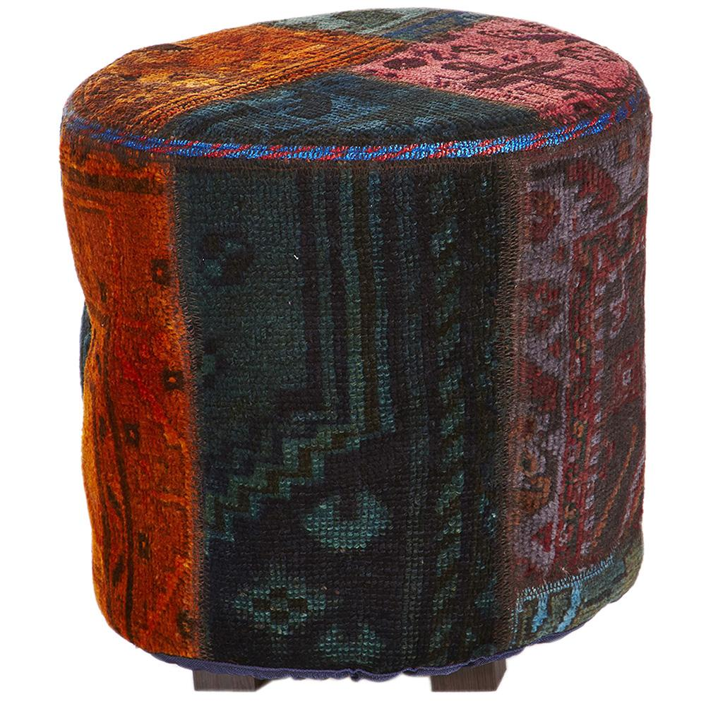 Hand knotted Persian Pat Ottoman