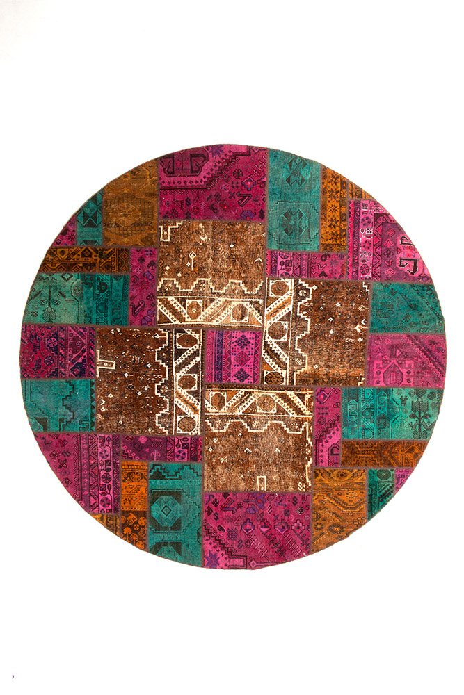 PERSIAN HANDNOTTED PATCHWORK 238X238CM