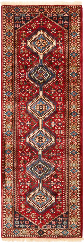 Hand Knotted Persian Yalameh Rug - Red