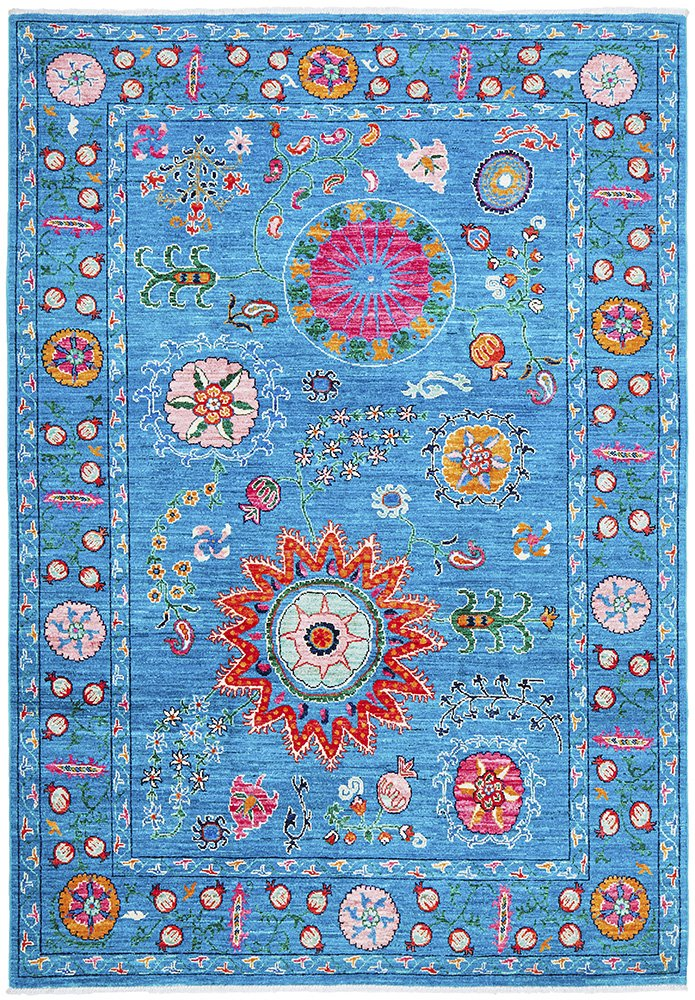 Hand Knotted Pure Wool Afghan - 224x162CM