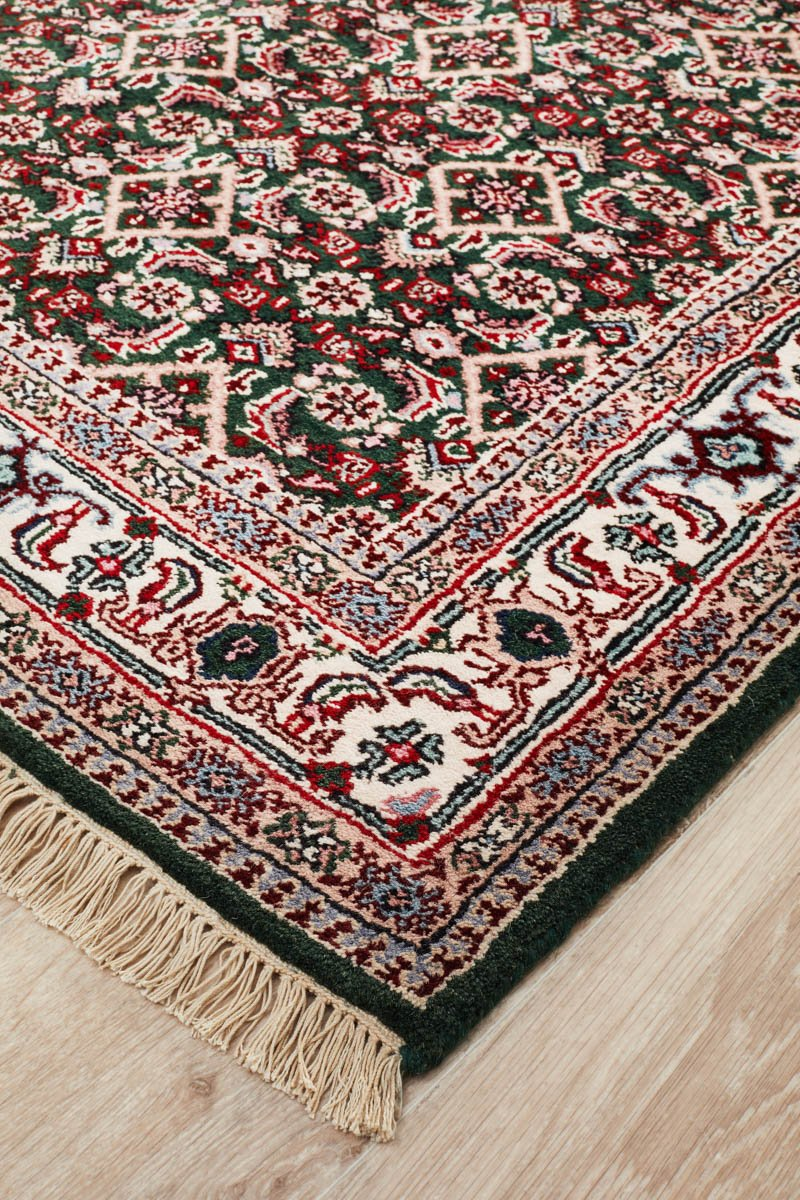 Hand Knotted Indian Wool Rug Handmade