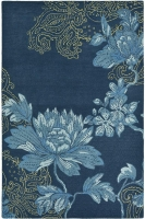 WEDGWOOD FABLED FLORAL NAVY