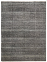FINE HAND KNOTTED WOOL BLACK, SI 4008