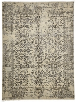 FINE HAND KNOTTED WOOL SILVER,BL 4036 -
