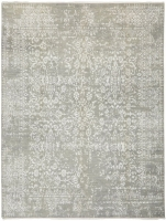FINE HAND KNOTTED WOOL L,GREY,SI 4040 -