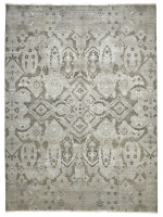 FINE HAND KNOTTED WOOL SILVER 4041 - 370