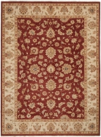 INDIAN HAND KNOTTED CHOBI RUST 15