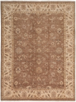 HAND KNOTTED INDIAN BROWN CHO 7003