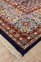 HAND KNOTTED PERSIAN MOUD RUG - PURPLE