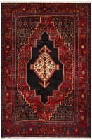 Hand Knotted Persian Shiraz Rug - Red