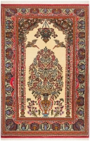 Hand Knotted Persian Fine Quality Qum