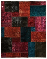 HAND KNOTTED PERSIAN PATCH WORK -8-OK