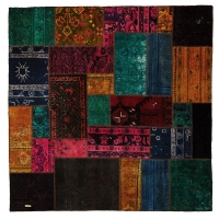 HAND KNOTTED PERSIAN PATCH WORK -15-OK