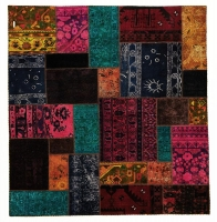 HAND KNOTTED PERSIAN PATCH WORK -18-OK