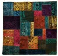 HAND KNOTTED PERSIAN PATCH WORK -19-OK