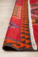 Hand Knotted Azerbaijani Kilim Rug - Red