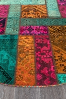 Persian Handnotted Patchwork 201x201cm