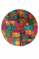 Persian Handnotted Patchwork 239x239cm