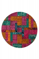 PERSIAN HANDNOTTED PATCHWORK 236X236CM