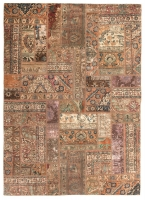 PERSIAN HANDNOTTED PATCHWORK 227X158CM
