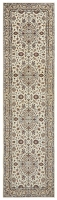 HAND KNOTTED PERSIAN KASHAN RUG - CREAM