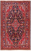 HAND KNOTTED PERSIAN GOLSHAHR RUG