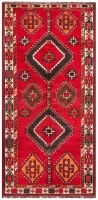 Hand Knotted Lori Rug - Red & Ivory