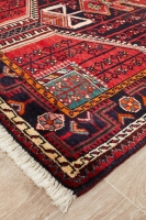 Hand Knotted Persian Hamadan Rug - Red
