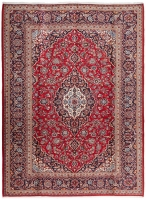PERSIAN HANDMADE RED KASHAN 38 - 343X250