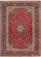 PERSIAN HANDMADE RED KASHAN 53 - 365X258