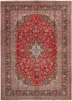 PERSIAN HANDMADE RED KASHAN 55 - 373X262