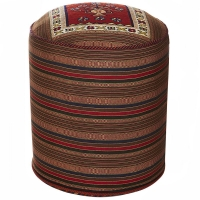 HAND KNOTTED PERSIAN OTTOMAN-16
