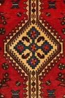 Hand Knotted Persian Abadeh Rug - Red