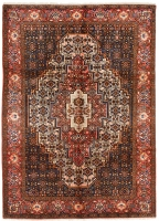 Hand Knotted Persian Senneh Rug - Salmon