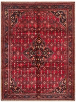 Hand Knotteed Hosseinabad Rug - Red