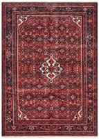 Hand Knotteed Hosseinabad Rug - Red Tone