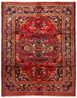 Hand Knotted Lilihan Rug - Red & Multi