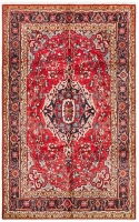 Hand Knotted Persian Kashan Rug - Red