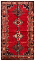 HAND KNOTTED LORI RUG - RED & BROWN TONE