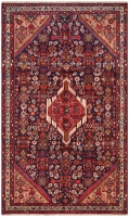 Hand Knotted Persian Zageh Rug - Red