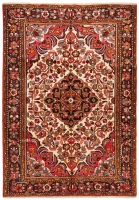 Hand Knotted Persian Borchalou Rug - Red