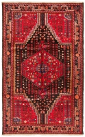 Hand Knotted Persian Toyserkan Rug - Red