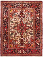 Hand Knotted Persian Heriz Rug - Red