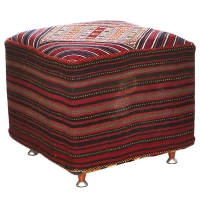 HAND KNOTTED PERSIAN OTTOMAN -190