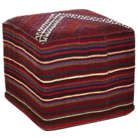 HAND KNOTTED PERSIAN OTTOMAN -218