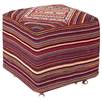 HAND KNOTTED PERSIAN OTTOMAN -223-OK