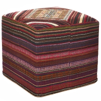 HAND KNOTTED PERSIAN OTTOMAN -253-OK