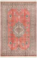HAND KNOTTED PAKISTANI RUG - TERRACOTTA